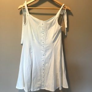 Forever 21 White Dress with Buttons